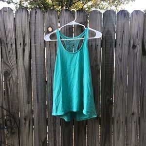 Xs teal racerback tanktop by mossimo